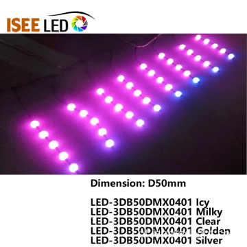 DMX512 D50mm Led Luz De Bola RGB