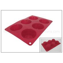 Molde de la torta del silicón de 6 celdas (RS11)