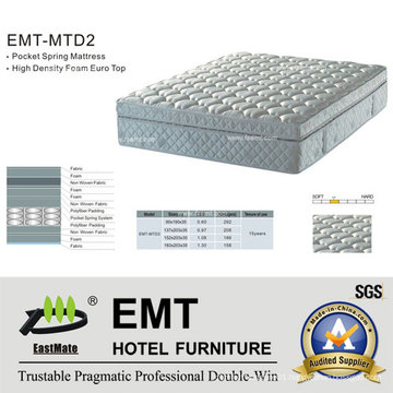 Comfortable Hotel Bedroom Bed Mattress (EMT-MTD2)