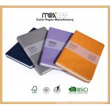 Офисные и школьные канцелярские товары Дешевые Custom Hardcover PU кожаный ноутбук