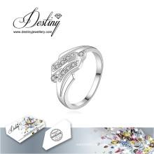 Destino joyería cristal de Swarovski anillo H