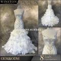 Estilo mais antigo de alta qualidade vestidos de casamento vintage sereia