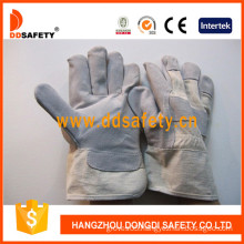 Cow Split White Cotton Back Leather Welder Gloves (DLC109)