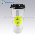 frozen beverage plastic disposable cups with lid