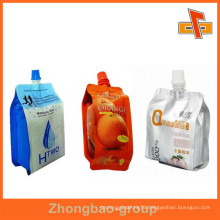Spout Pouch For Liquid / Nozzle Bag Pouch For Juice And Energy Drink