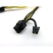 PCI-E 6pin naar dubbele 8-pins Y-Splitter Extension Cable