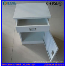 ISO/Ce Qualified Stainless Steel Hospital Bedside Cabinet