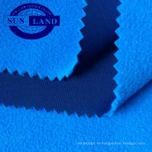 18AW-Bekleidung kein Glanz volles, mattes Polyester-Interlock-Bonding mit Mikrofaser-Polarfleece