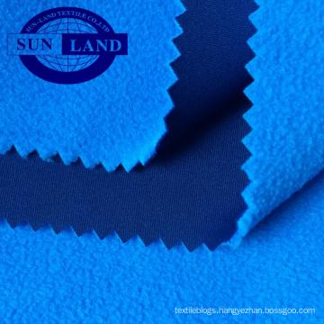 18AW clothing no shine full dull polyester interlock bond with microfiber polar fleece fabric
