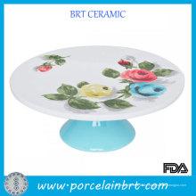Elegante Rosen Runde Keramik Großhandel Kuchen steht
