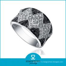 Широкие серебряные украшения из циркона для мужчин (SH-R0070)