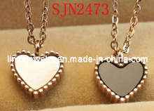 Fashion Shell Jewelry Heart Shaped Stainless Steel Pendant