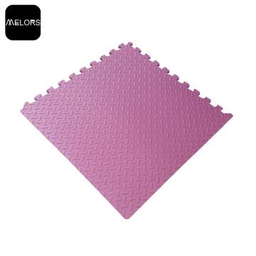 Розовый фитнес тренировки пены Ева блокируя циновку