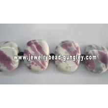 Belos grânulos quadrado cerâmicos para fabricação de jóias