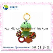 Прекрасная зеленая лягушка печати красочные конфеты Teether игрушек