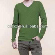 13STC5575 dernière conception mode V-cou européenne chandails de style pour les hommes