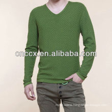 13STC5575 latest design fashion V-neck european style sweaters for men