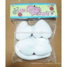 fournitures de fête de fête décorations en gros Styrofoam en forme de coeur
