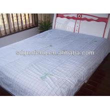 100% coton 40 * 40 110 * 90 tissu blanc drap de lit tissu