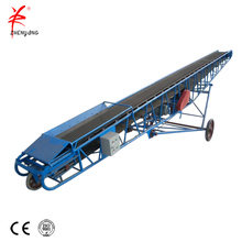 Sand fabric belt conveyor transporting