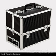 good quality train aluminum make up case