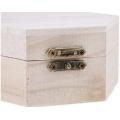 unfinished mini wooden jewelry box case woodworking art hexagonal