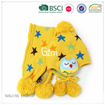 Children Cute Hat Scarf Set