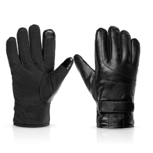 Pu leather Keep Warm Electric Shock Gloves