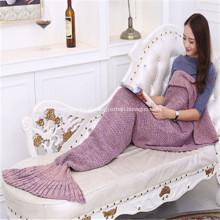 Cobertor de cauda de sereia promocionais de confecção de malhas