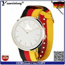 Yxl-490 Marque De Luxe Montres Femmes Nato Nylon Sangle Homme Montre-Bracelet De Mode Sport Horloge Chine