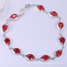 Mode rhodium plaqué or grenat cz dames fantaisie bracelet bracelets pour les femmes bracelets en gros de haute qualité bijoux de mode