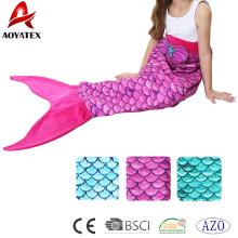 Weiche und schöne Flanellfleece-Meerjungfrau-Schwanzdecke für reizende Mädchen