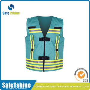 proof retardant vest with reflective tape
