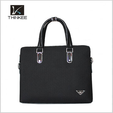 new arrival unique fashion handbag logo labels free leather men tote bag