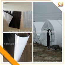 Schwarze, weiße undurchsichtige Polyester-Kunststofffolie