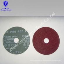 Disco de fibra de resina y disco de lijado y disco abrasivo para óxido de aluminio