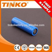 2200mah 18650 3.7 v bateria de íon de lítio recarregável