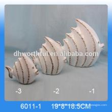 2016 nueva decoración casera, decoración de cerámica de los pescados, figurilla de cerámica de los pescados