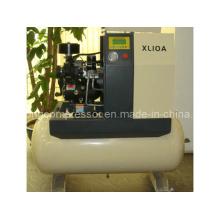 Compacto compresor de aire de desplazamiento de tornillo rotativo con secador (Xl-10A 7.5kw)
