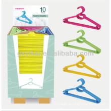 2013 Gancho plástico vendedor caliente embalado con el cartón de la exhibición