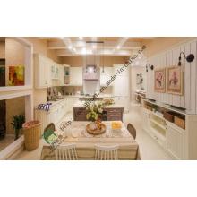 White Kitchen Furniture PVC Wrapped Design (ZS-257)