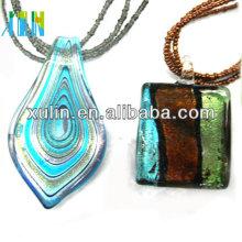 verre soufflé à la main pendentif en verre dichroïque pendentif
