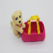 Мини-собака щенок ПВХ Игровой набор