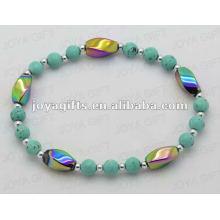 Hematite Turquoise Beaded bracelet