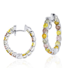 Boucles d'oreilles en or 925 en argent sterling assorties en diamant