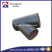 black paint steel pipe tee for china supplier