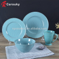 Vajilla de cerámica de forma redonda personalizada / plato de vajilla conjunto