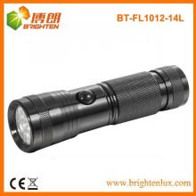 Fábrica de fornecimento de logotipo impresso EDC 14 levou alumínio levou lanternas feitas na china