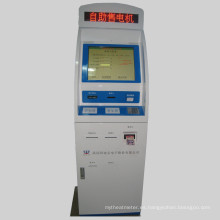 Kiosco de pago en efectivo de Cutomized con impresora de recibos