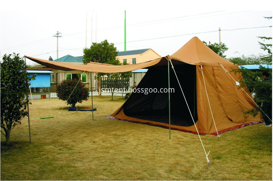 Wind resistant event tent